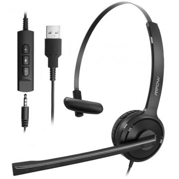 Гарнитура для колл центра MPOW BH323A USB Headset  Black