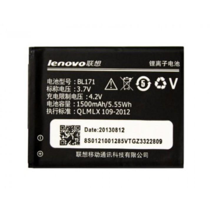 Аккумулятор Lenovo BL171 для Lenovo A390,  A368, A60, A65, A500, A356, A358, A376, 1500mAh, оригинальный