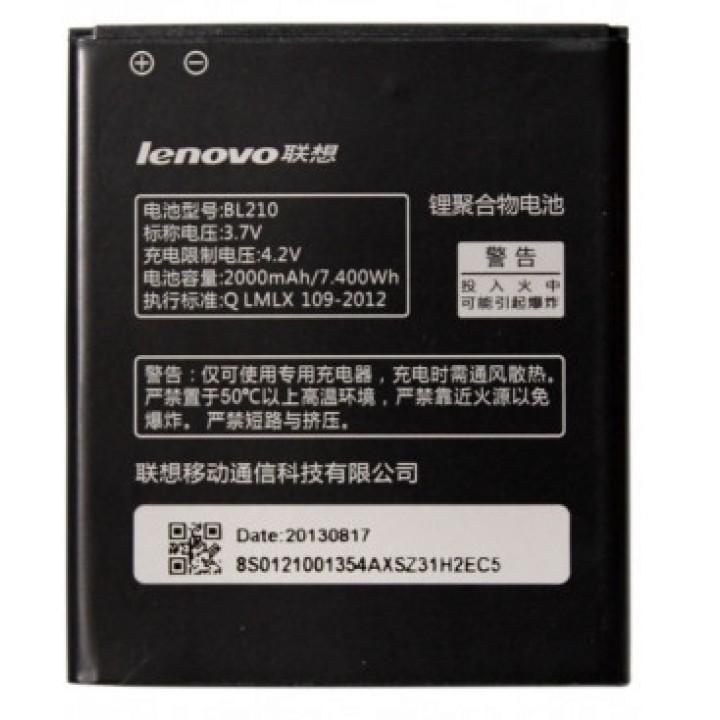 Аккумулятор Lenovo BL-210 для  Lenovo S820, S820E, S650, A766, A750E, A770E, A656, A658T, A606, 2000mAh, оригинальный