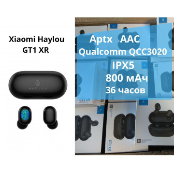 Беспроводные наушники Haylou GT1 XR Bluetooth гарнитура Qualcomm QCC3020 APTX Black