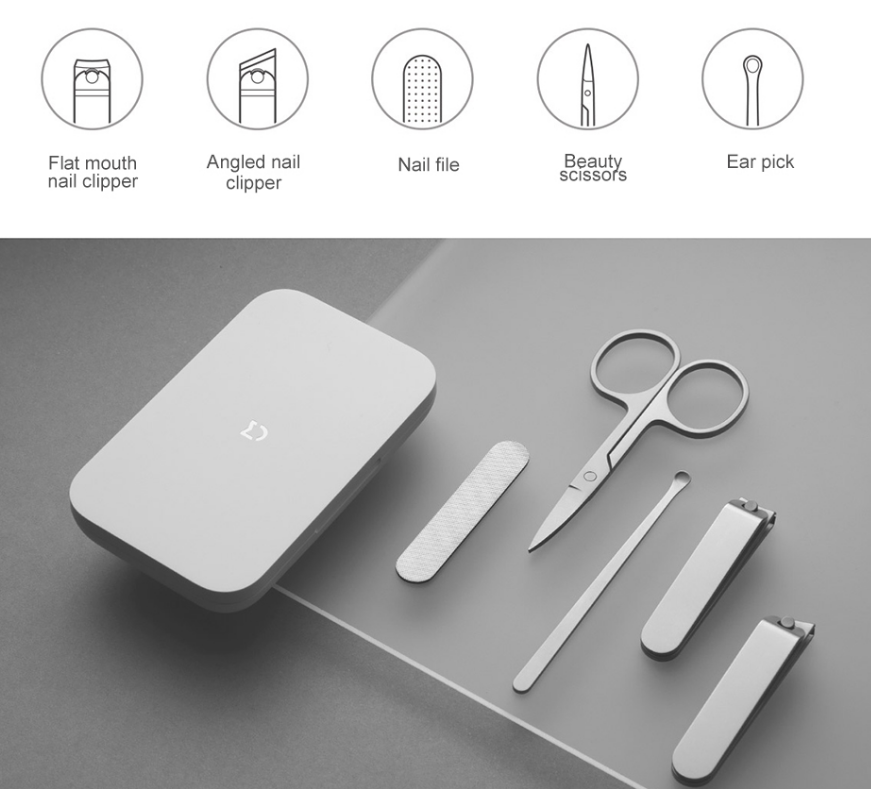 Маникюрный набор Xiaomi Mijia Nail Clipper Five Piece Set (MJZJD002QW) 11